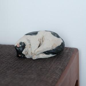 前川幸市/眠り猫 白黒