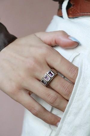 vtg Amethyst silver ring