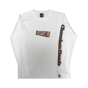 CHOCOLATE HEADS L/S TEE /WHITE