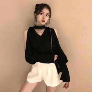 【set】[単品注文]ファッション無地Tシャツ+ショートパンツセットアップ21673802