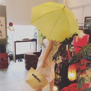 KIWANDA エステルタフタスカラップ ショート傘