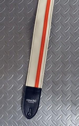 Couch Guitar Strap Racer X White / Orange