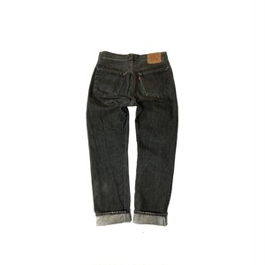 "90's ""LEVI'S / 501"" (32×32) YARN DYED BLACK DENIM PANTS"