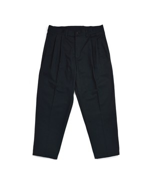 Loose 2Tuck Tapered Trouser / BLACK
