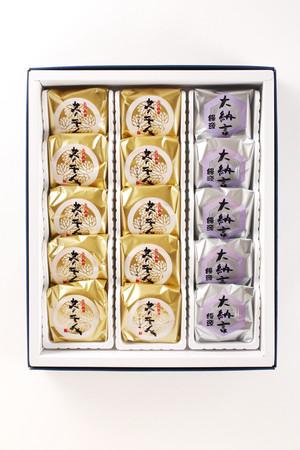 葵千人(黄身餡/チーズ餡)+大納言饅頭 15個入り