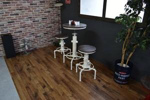 Smoky Bar Table WH / ヴィンテージスタイル スモーキー バーテーブル / ホワイト