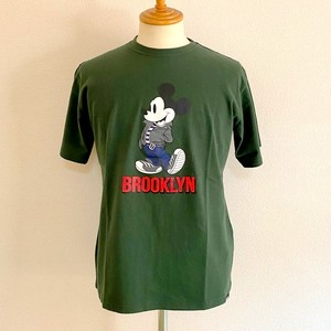 Schott×DISNEY/T-SHIRT BROOKLYN D.GREEN