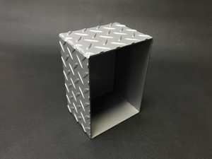スチール製 コレクションボックス(シルバー/ブラック)
