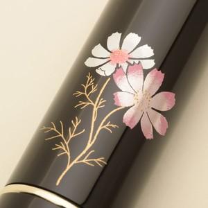 携帯用メイクブラシ 越前蒔絵×熊野筆 秋桜