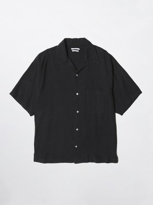 UNDECORATED TROPICAL WASHED OUT S/S SHIRT Black UDS20201