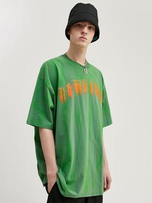 INFLATION【即日出荷】英字ドロッピングTシャツ