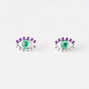 Medama Pierces / Earrings(S) -mint-grape-