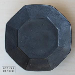 [加藤 祥孝]8寸  八角皿 /鉄釉