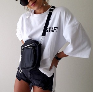 STAFF logo BIG Tee /White