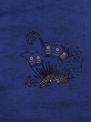 ビーズ刺繍 蝶の名古屋帯