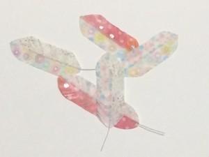 カラフルな羽根(大)3枚セット