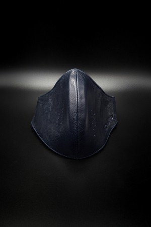 Item No.0378:RH Smooth Back Leather Surgical Mask/Midnight Blue