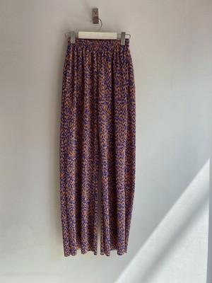Leopard pleated pants