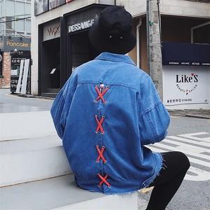 [HOT]パッチデザインデニムジャケット 3カラー