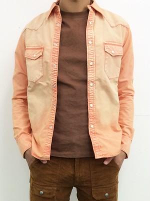 DELAY ボタンシャツ ORANGE(DW19-SH-002)