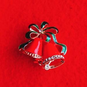 クリスマスミニブローチ 赤ベル