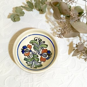 "Hand Painted Romanian Pottery ""KOROND"" Small Bowl [CPV-13]"