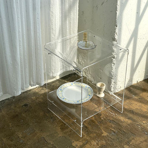 fresh acryl side table / フレッシュ アクリル サイドテーブル 2段 韓国 インテリア 雑貨 家具