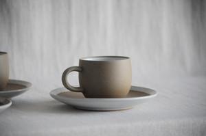 炻器丸型コーヒーカップ 白山陶器 森正洋 Cup and Saucer