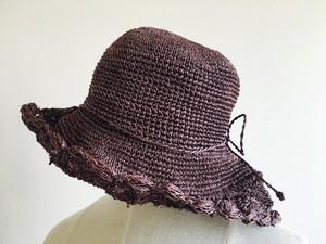 クロッシェ編み レディライクなハンドメイドデザイン 麦わら帽子