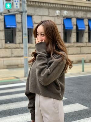 【予約】raccoon boatneck knit / brown  (ご注文から約3週間での配送)