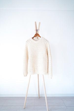 "【1980s】""Irish Sweater"" Vintage Wool Knitting  / v400"