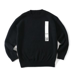 crepuscule FOR SO NAKAMEGURO TENJIKU LONG SLEEVE KNIT(BLACK)