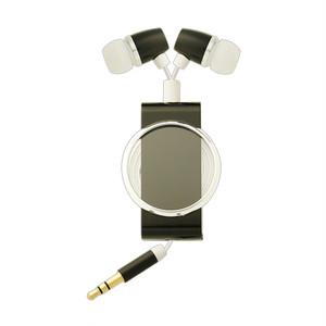 「いい音」コード巻き取り式イヤホン TA-AR3-MBK