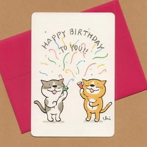 グリーティングカード[birthday・クラッカー]封筒付き
