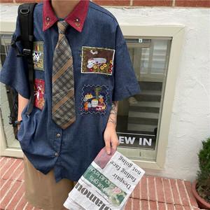 【トップス】ファッションストリート系男女兼用人気半袖シャツ48267036