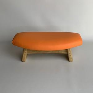ゴイチ レザー オレンジ 座椅子