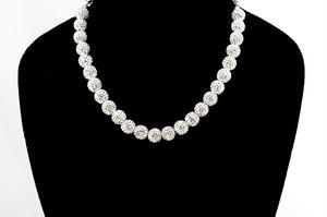 ラインストーンパヴェボールネックレス pve-neckcrystal25 クリスタル パヴェ キラキラ