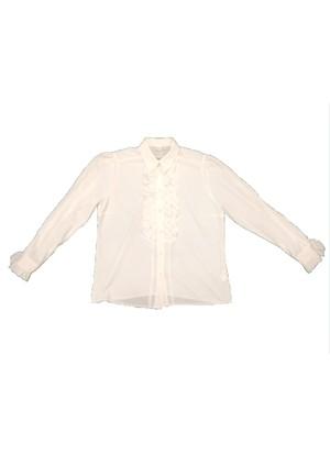 Euro Vintage White shirt 長袖 BL12