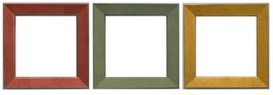 額縁おしゃれアンティークフレーム正方形B-22003赤/B-22004緑/B-22005黄色/額縁寸法100mm×100mm窓枠サイズ84mm×84mm 2mmアクリル裏板付 壁掛け用/卓上スタンドは付いておりません。