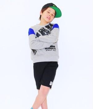 [BOY]BIGロゴプリント配色トレーナー