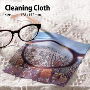 写真でオーダー・オリジナルデザイン(カスタム)メガネ拭き(178x152mm)/クリーニングクロス/スマホクリーナークロス