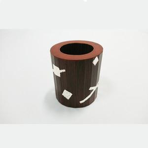 竹片木目箔押蓋置 正玄造