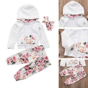 赤ちゃん セットアップ 花柄 かわいい ベビー服 ベビー用品 パーカー ズボン