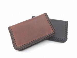♪オーダーメイド レザー レース編み 名刺入れサイズの小さなお財布 コンパクトウォレット♪