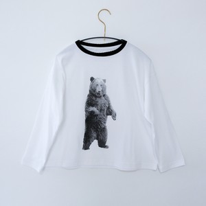 《michirico 2020AW》Bear longsleeveT / white / L・XL