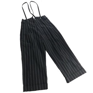Y'S RED LABEL WIDE SILHOUETTE SUSPENDER PANTS