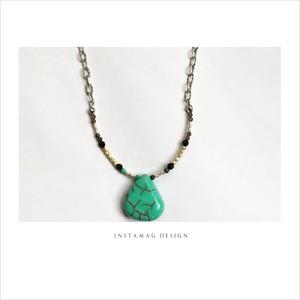 N193天然石●ボヘミアン●ネックレス