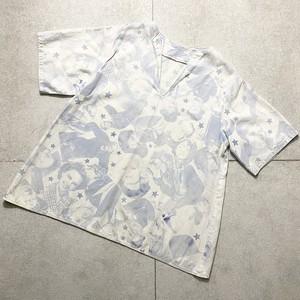 vintage 1970's movie pattern pullover shirt