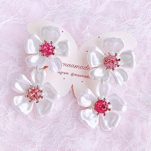 【earrings】Pearl×Pearl 〜YUKInoHANA〜