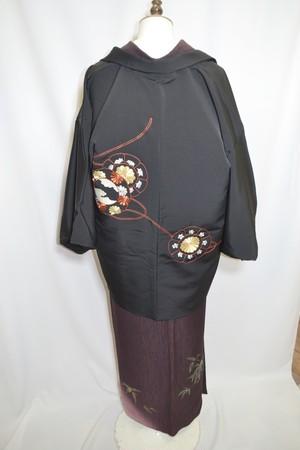 【黒絵羽織】刺繍☆古代鏡【しつけ付】